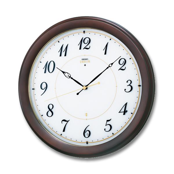 SEIKO EMBLEM セイコーエムブレム シックな木製電波壁掛時計[HS547B] ZOOM