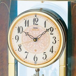 SEIKO EMBLEM セイコーエムブレム 木の風合いが魅力な回転飾り置き時計[HW577B] 文字盤
