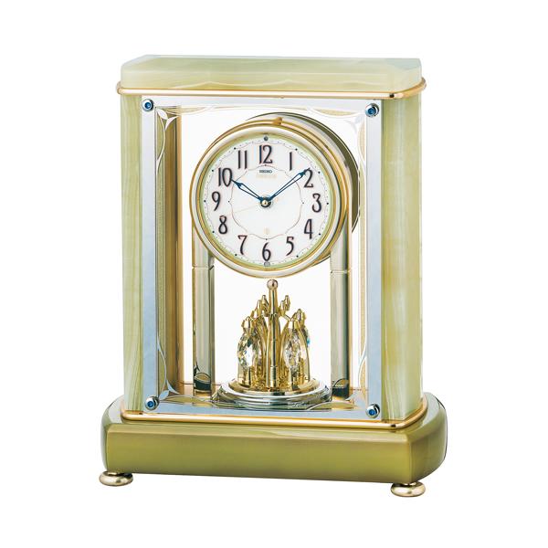 SEIKO EMBLEM セイコーエムブレム 天然石の風合いが魅力な置き時計[HW578M]   ZOOM