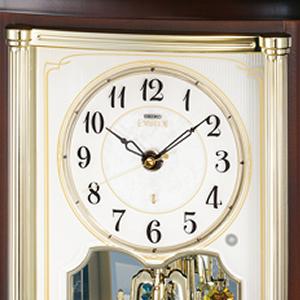 SEIKO EMBLEM セイコーエムブレム 木の風合いが魅力な回転飾り置き時計[HW581B] 文字盤