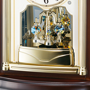 SEIKO EMBLEM セイコーエムブレム 木の風合いが魅力な回転飾り置き時計[HW581B] 回転飾り