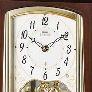 SEIKO EMBLEM セイコーエムブレム 木の風合いが魅力な回転飾り置き時計[HW582B] 文字盤