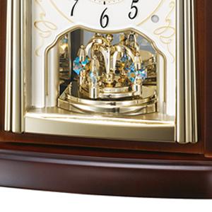 SEIKO EMBLEM セイコーエムブレム 木の風合いが魅力な回転飾り置き時計[HW582B] 回転飾り