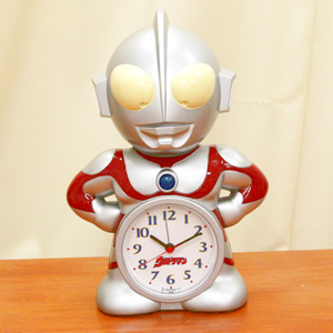 カラータイマーで止めるユニークな目覚まし時計