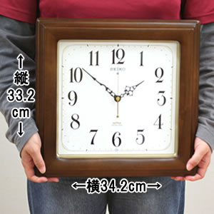 SEIKO SWEEP セイコースイープ 電波掛け時計【KS298B】 サイズ