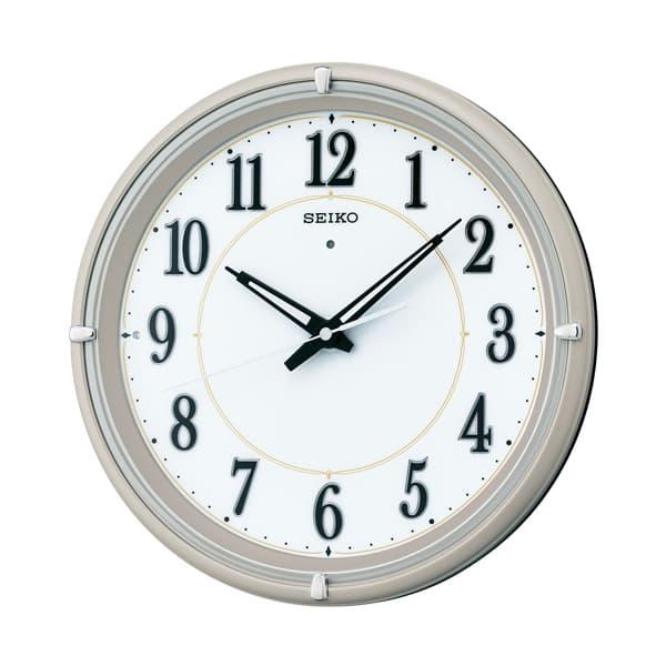 SEIKO セイコー 夜光電波掛け時計 ファインライト NEO【KX393G】 薄金色メタリック