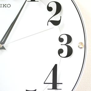 SEIKO/セイコー シンプル&モダン掛け時計 KX608W 文字盤