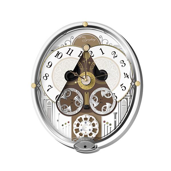 SEIKO ウェーブシンフォニー [RE570W] からくり電波掛け時計
