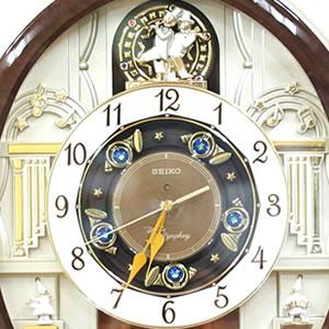 SEIKO セイコー 電波からくり掛け時計 【RE571B】 文字盤