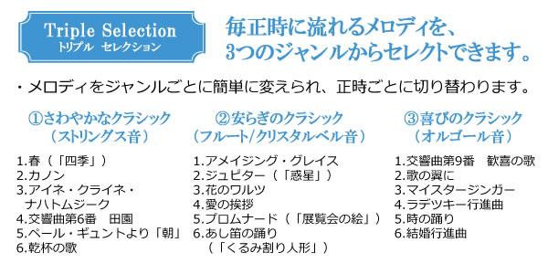 SEIKO セイコー 電波からくり掛け時計 【RE572S】 収録曲
