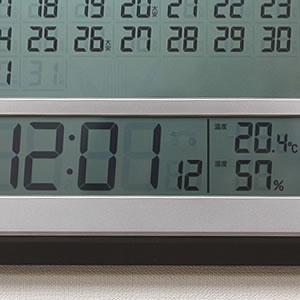 SEIKO セイコー デジタル電波クロック 【SQ421B】 温度・湿度表示付き