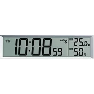 受付や応接間にぴったり!セイコー掛け置き兼用 電波時計 【SQ422W】 温度・湿度表示