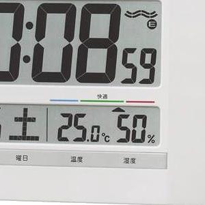 セイコー(SEIKO)掛け置き兼用デジタル電波クロック SQ429W