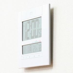 SEIKO セイコー デジタル 電波 掛け置き兼用時計 SQ429W 側面
