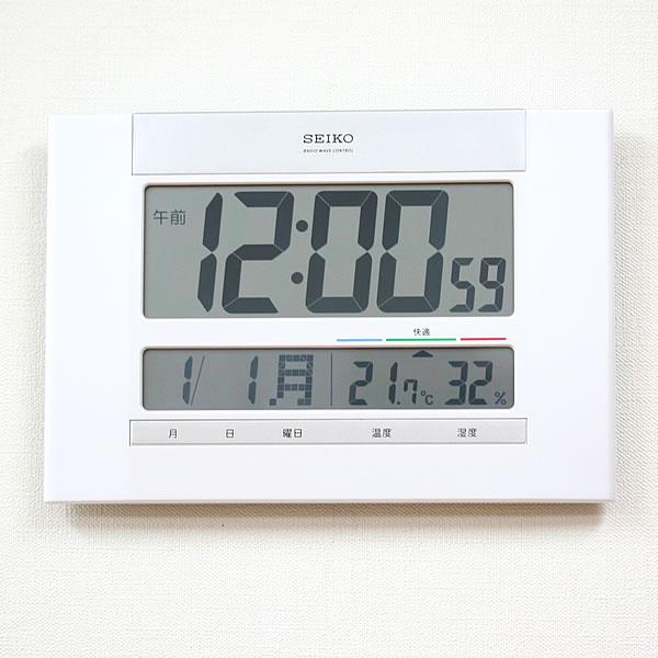 SEIKO セイコー デジタル 電波 掛け置き兼用時計 SQ429W