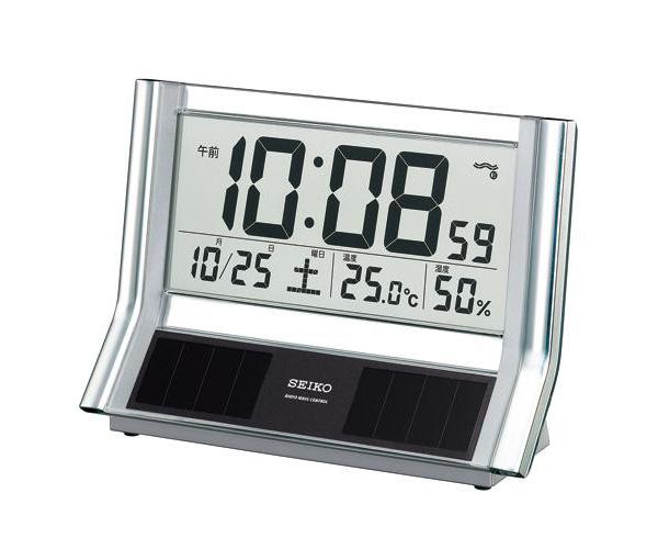 SEIKO セイコー ハイブリッドソーラー デジタル 電波 置き時計 SQ690S