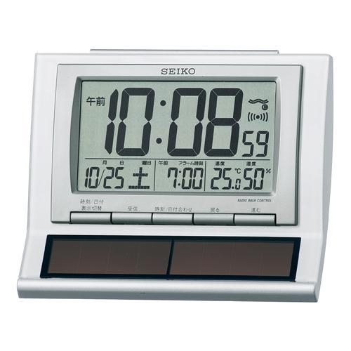 セイコー(SEIKO)ハイブリッドソーラーデジタル電波クロック目覚まし時計 sq751w