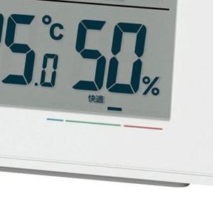 セイコー(SEIKO)温湿度表示デジタル電波クロック 快適度表示