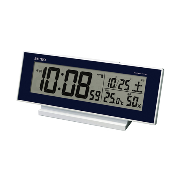 セイコー(SEIKO)温湿度表示付きデジタル電波クロック置き時計 SQ762L