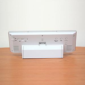 セイコー(SEIKO)温湿度表示付きデジタル電波クロック置き時計 SQ762L 裏面