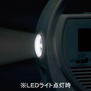 SEIKO セイコー 電波防災クロック目覚まし時計 【SQ764W】 LEDライト