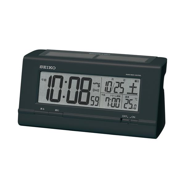 セイコー(SEIKO)ハイブリッドソーラーデジタル電波クロック目覚まし時計 SQ766K