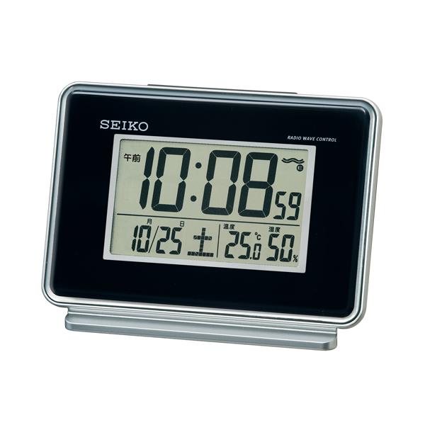 セイコー(SEIKO)温湿度表示付きデジタル電波クロック置き時計 SQ767K