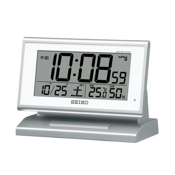 セイコー(SEIKO)温湿度表示付きデジタル電波クロック置き時計 SQ768S
