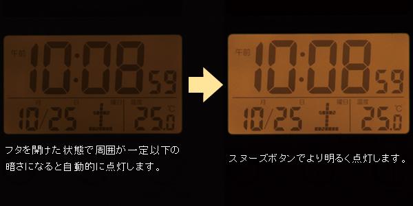 SEIKO/セイコー ポケットにもスッキリ収まる薄型スタイリッシュなトラベラ- 【SQ772G】 ライト点灯について