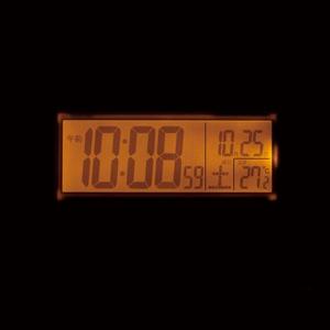 SEIKO セイコー デジタル電波目覚まし時計 【SQ755W】 ライト 点灯 スヌーズボタンを押すと、より明るく光る