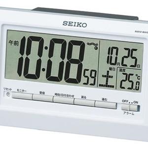 SEIKO セイコー デジタル電波目覚まし時計 【SQ755W】 液晶