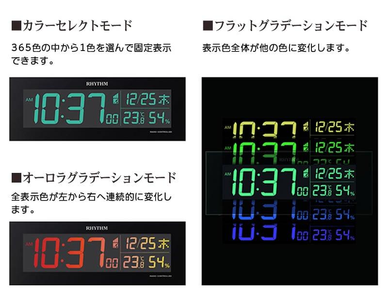 カラーセレクトモード/オーロラグラデーションモード/フラットグラデーションモード
