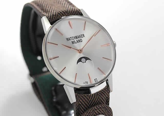 ムーンフェイス腕時計