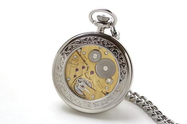 ウィンドミルズ 懐中時計 バックスケルトン
