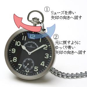 ZENO WATCH ゼノウォッチ 懐中時計 竜頭 リューズ