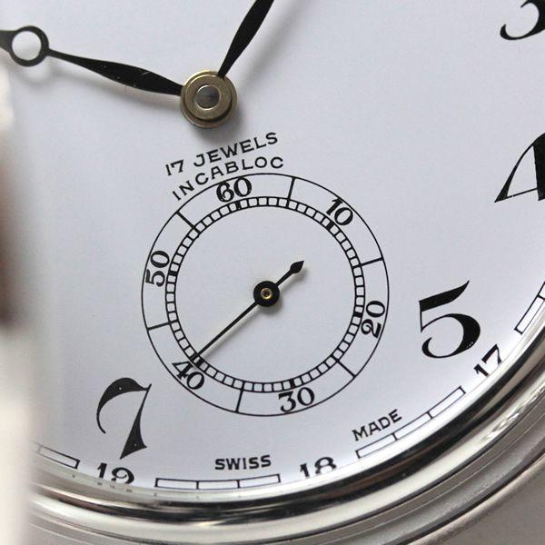 ゼノウォッチ zt105-i2num 花がらの文字盤が印象的な銀無垢懐中時計