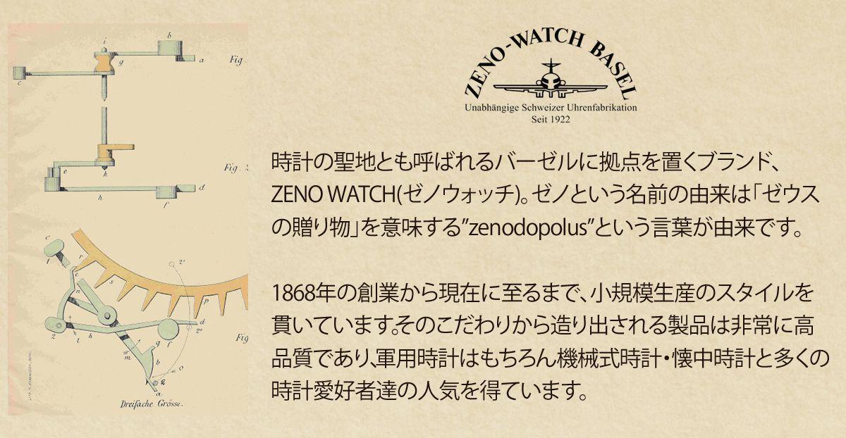 時計の聖地とも呼ばれるバーゼルに拠点を置くブランド、ZENO WATCH(ゼノウォッチ)。ゼノという名前の由来は「ゼウスの贈り物」を意味する